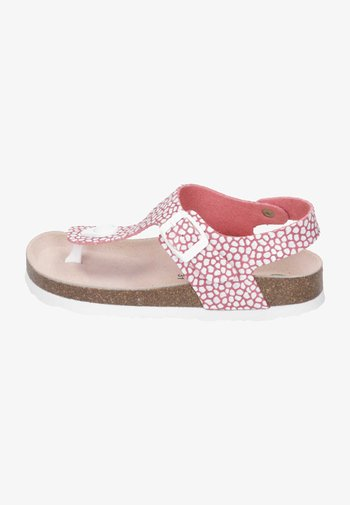 T-bar sandals - rot