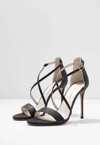 Pura Lopez - Sandalen met hoge hak - glitter black - 4