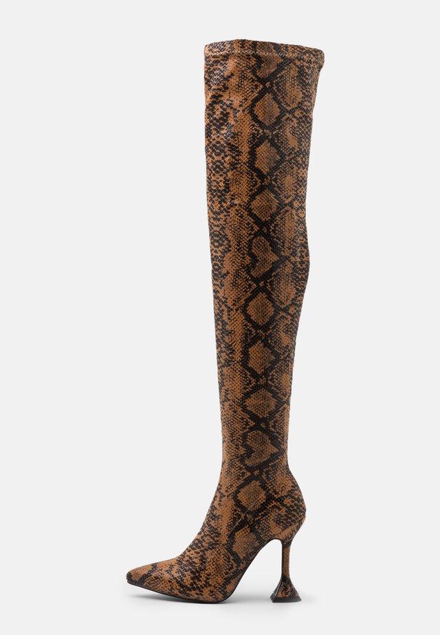 HOPPER - High heeled boots - tan