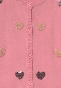 Blue Seven - KIDS SEQUIN HEARTS - Cardigan - mauve - 3