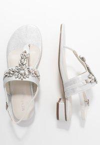 Menbur - T-bar sandals - ivory - 3