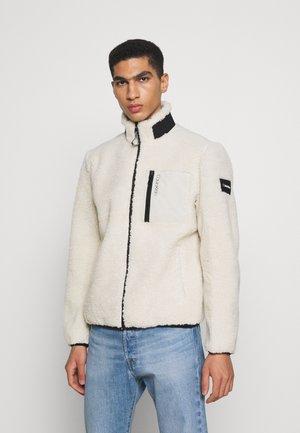 ZIP THROUGH JACKET - Fleece jacket - bleached stone