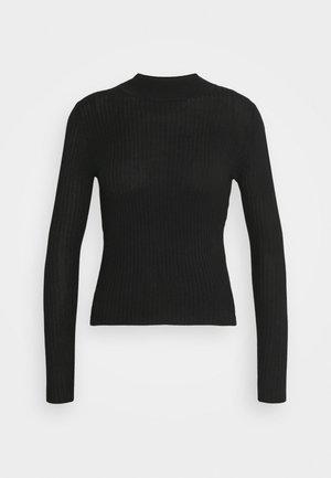QUINNY VARIGATED - Pullover - black
