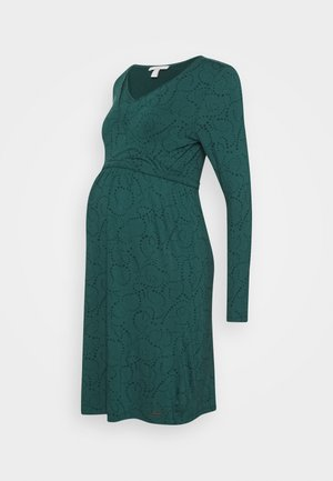 DRESS NURSING - Žerzejové šaty - hay green