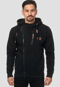 INDICODE JEANS - ELM - Zip-up hoodie - black - 0