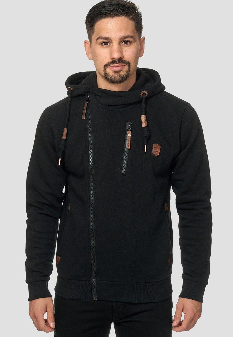 INDICODE JEANS - ELM - Zip-up hoodie - black