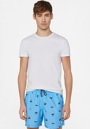WE FASHION HERREN-BADESHORTS AUS RECYCLINGMATERIAL, KURZ - Szorty kąpielowe - bright blue