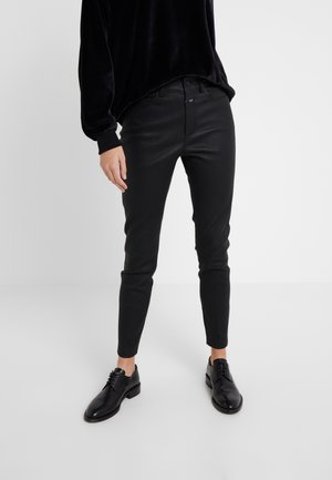 BAKER HIGH - Leather trousers - black