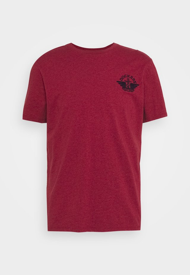LOGO TEE - T-shirt imprimé - warm cinnabar/chestnut red