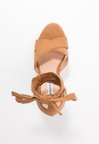 Even&Odd Wide Fit - Korolliset sandaalit - cognac - 3