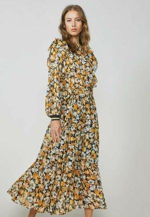 Korte jurk - bright ochre