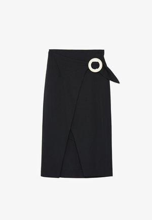 WICKELROCK MIT SCHNALLE 00310260 - Zavinovací sukně - black
