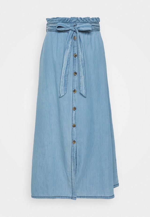 PCELSA SKIRT - A-line skirt - light blue denim