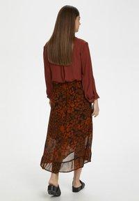 InWear - A-line skirt - cayenne poetic flower - 4