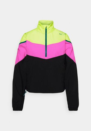 TRAIN FIRST MILE XTREME JACKET - Sportovní bunda - fizzy yellow/luminous pink /black