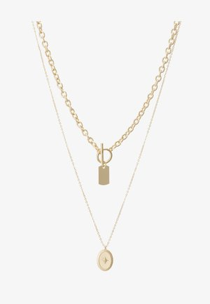 PCDUNIO COMBI NECKLACE KEY 2 PACK - Smykke - gold-coloured