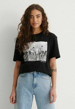 Print T-shirt - black new york
