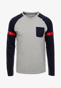 TOM TAILOR DENIM - LONGLSLEEVE CUTLINE - Långärmad tröja - middle grey mélange - 4