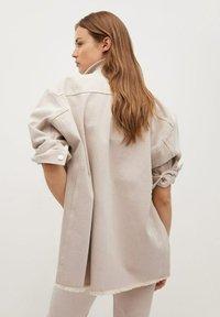 Mango - MAIA - Button-down blouse - beige - 2
