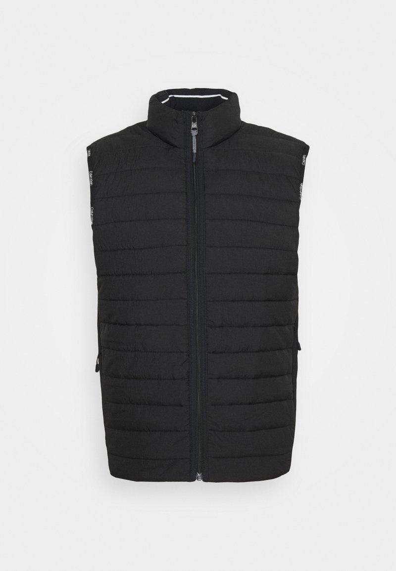 Calvin Klein - CRINKLE VEST - Waistcoat - black