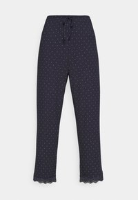 NIGHT TROUSERS DOT - Pyjama bottoms - dark blue