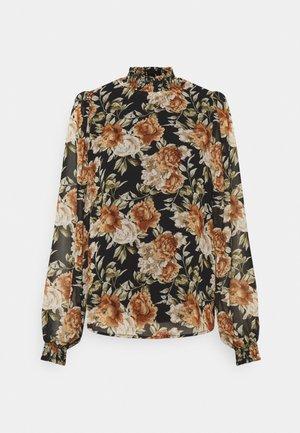 ONLMIA SMOCK TALL - Long sleeved top - blackbig rose