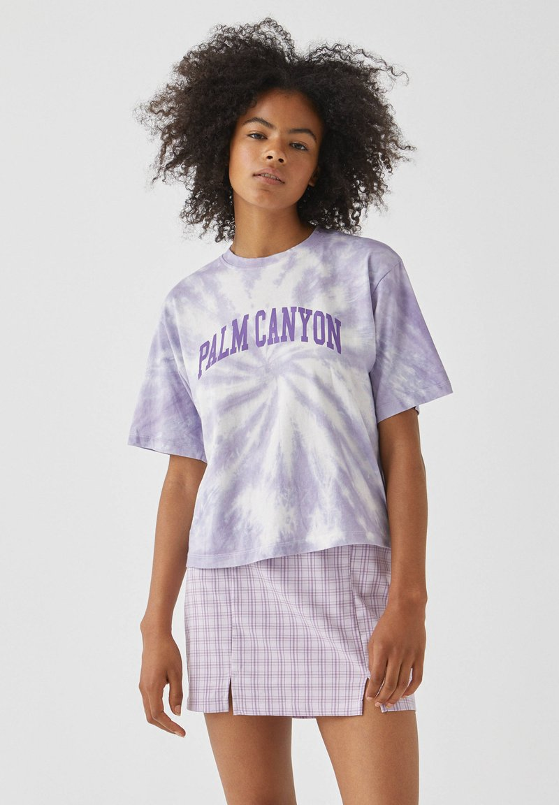 PULL&BEAR - Print T-shirt - purple