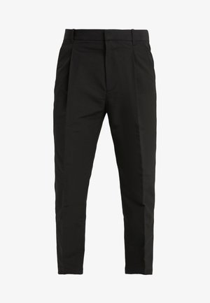 SINGLE PLEAT PANT - Bukse - black