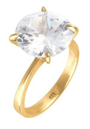 Ring - weiß/goldfarben