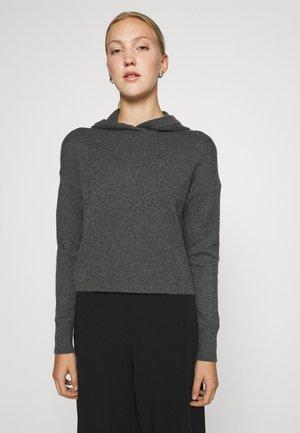 ONLKATIA HOOD - Sweter - dark grey melange