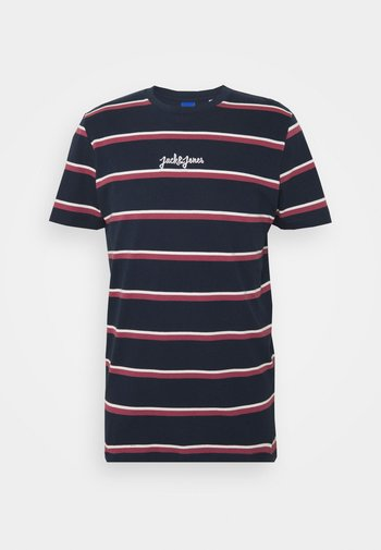 JORSALT TEE CREW NECK - Print T-shirt - navy /melange