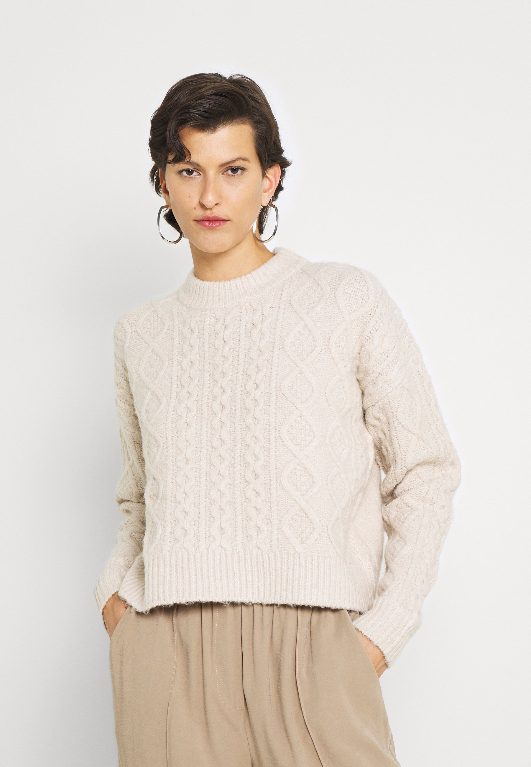 Damen CABBIE CABLE KNITTED - Strickpullover