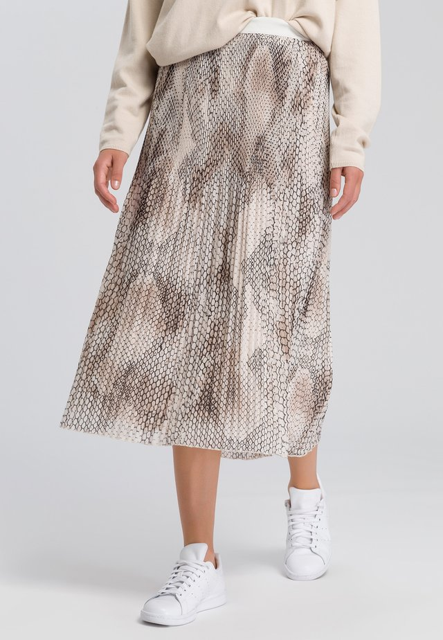 A-line skirt - light sand varied