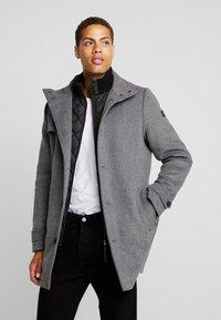 TOM TAILOR - COAT 2 IN 1 - Classic coat - mid grey - 0