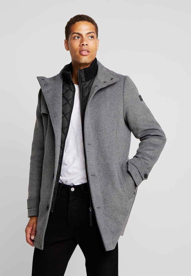 TOM TAILOR - COAT 2 IN 1 - Classic coat - mid grey