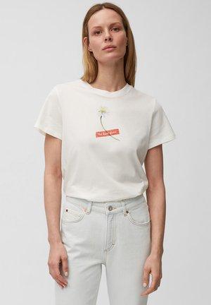 Print T-shirt - paper white