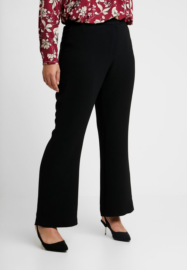 TAILORED TROUSER - Kangashousut - black