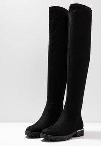 Anna Field - Kozačky nad kolena - black - 4