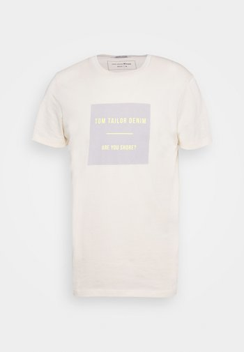 PRINT - Print T-shirt - light almond