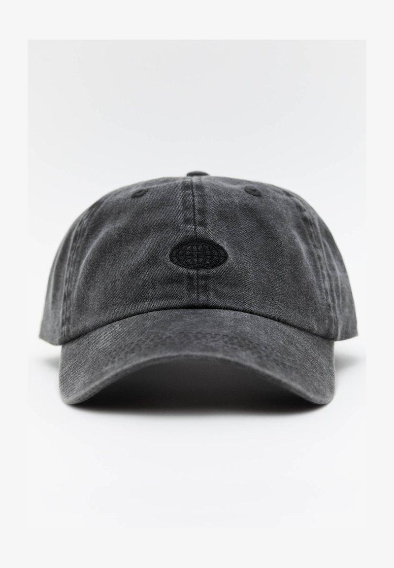 PULL&BEAR - BASIC - Cap - black
