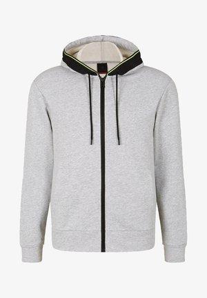 CORK - Zip-up sweatshirt - hellgrau meliert