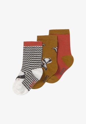 BADGERS 3 PACK - Socken - grau/toffee