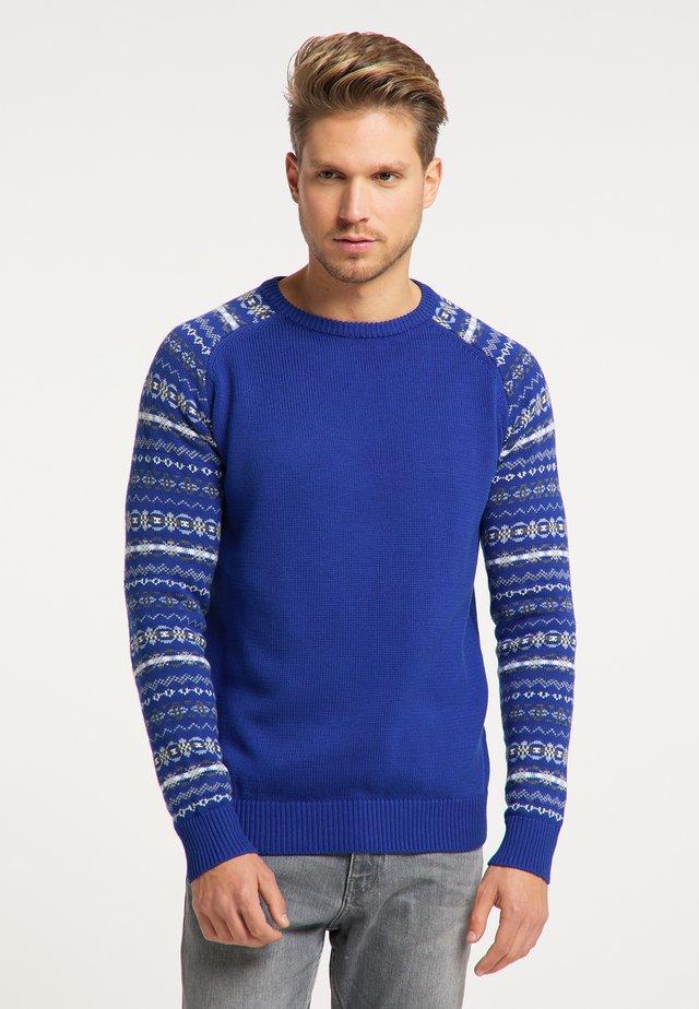 Maglione - multicolor blau