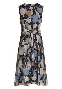 Betty & Co - Day dress - dunkelblau weiß - 3