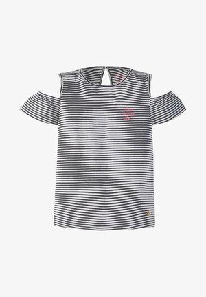 T-SHIRT GESTREIFTES COLD-SHOULDER T-SHIRT - Print T-shirt - black iris blue