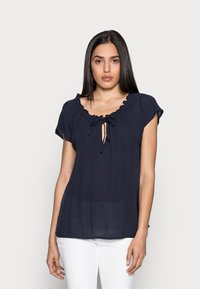 Esprit - BLOUSE - Print T-shirt - navy - 0
