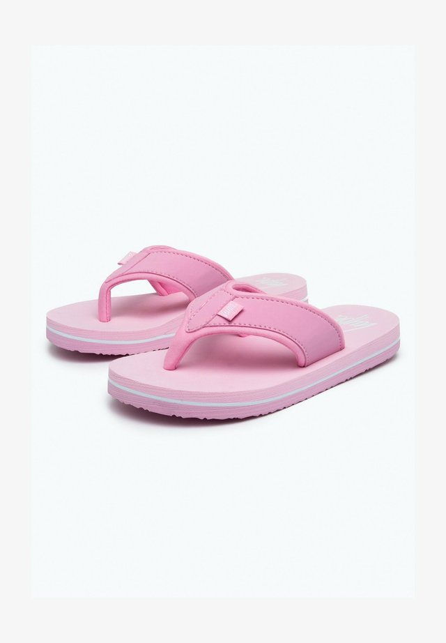 T-bar sandals - pink/white
