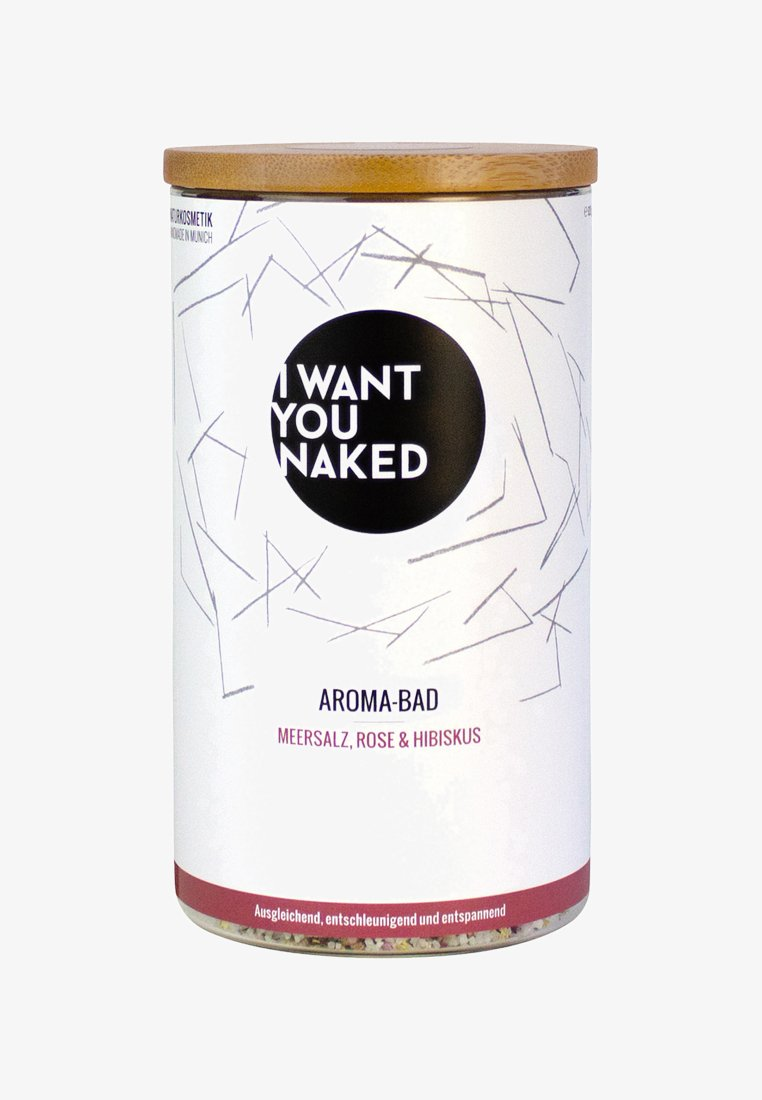 I WANT YOU NAKED - AROMA BATH - Bagnoschiuma - rose & hibiskus