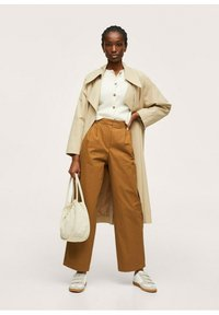 Mango - Trousers - medium brown - 1