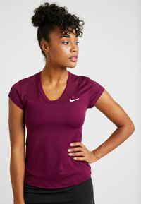 Nike Performance - DRY - Basic T-shirt - bordeaux/white - 0